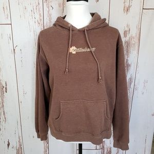 Women's Billabong brown graphic kangaroo hoodie XL
